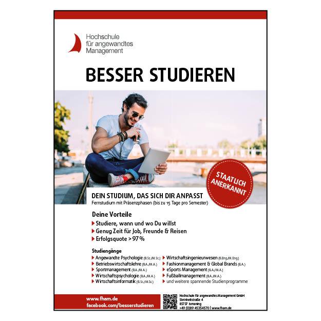Hochschule für angewandtes Management – Frankfurt (1/1 Seite DIN A4 hoch; 4c)