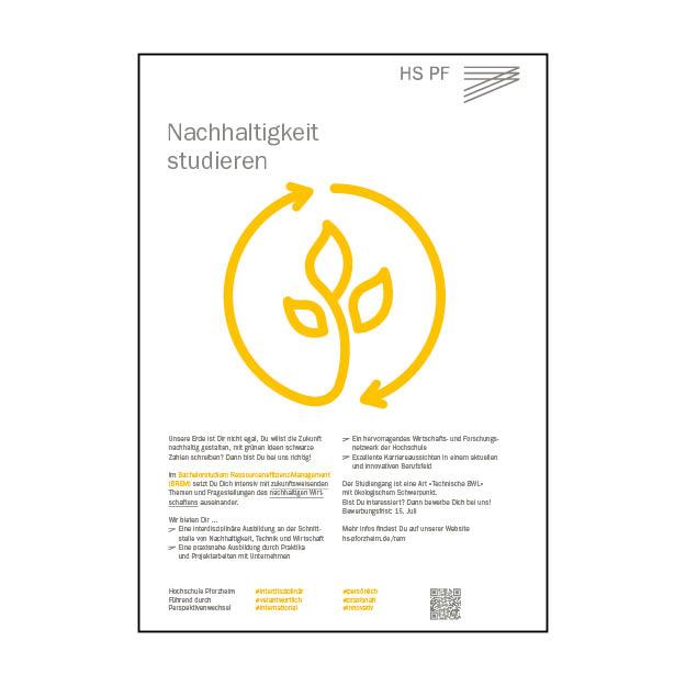 Hochschule Pforzheim – Ressourceneffizienz-Management (1/1 Seite DIN A4)